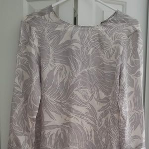 100% Silk 3/4 Sleeve Club Monaco Blouse